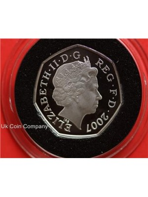 2007 scout movement silver proof 50p fifty pence coin in capsule